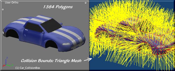 Blender game engine collision bounds